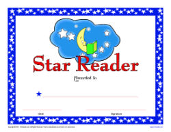 Super Reader Certificate for Boys! Reward your students' reading