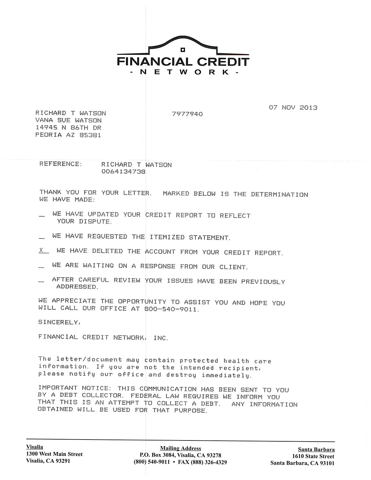 Sample letter to credit bureau to remove paid collection for Free credit repair letters templates