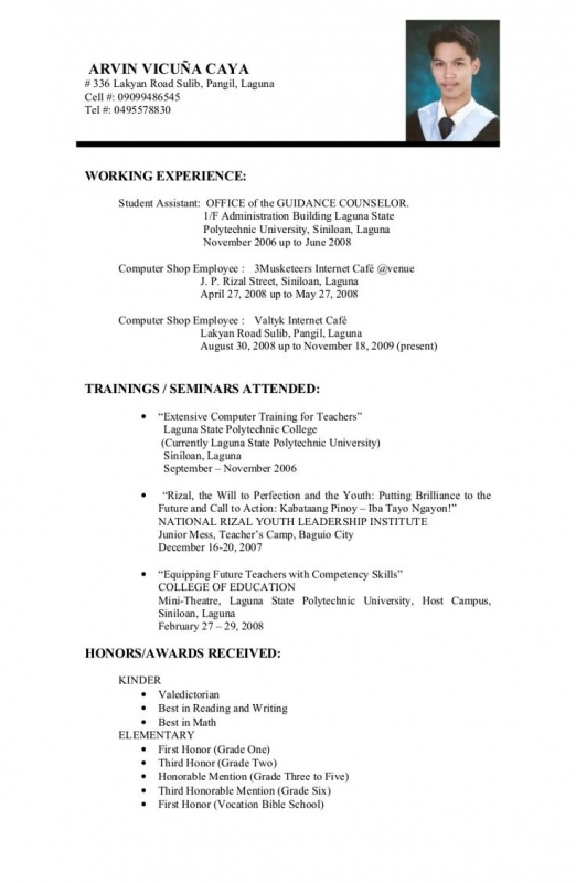 Sample Resume For College Students Still In School. Resume