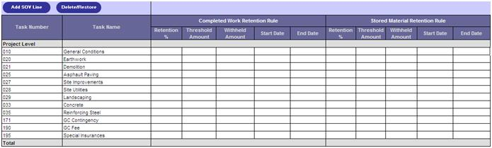 Schedule Of Values Fill Online, Printable, Fillable, Blank