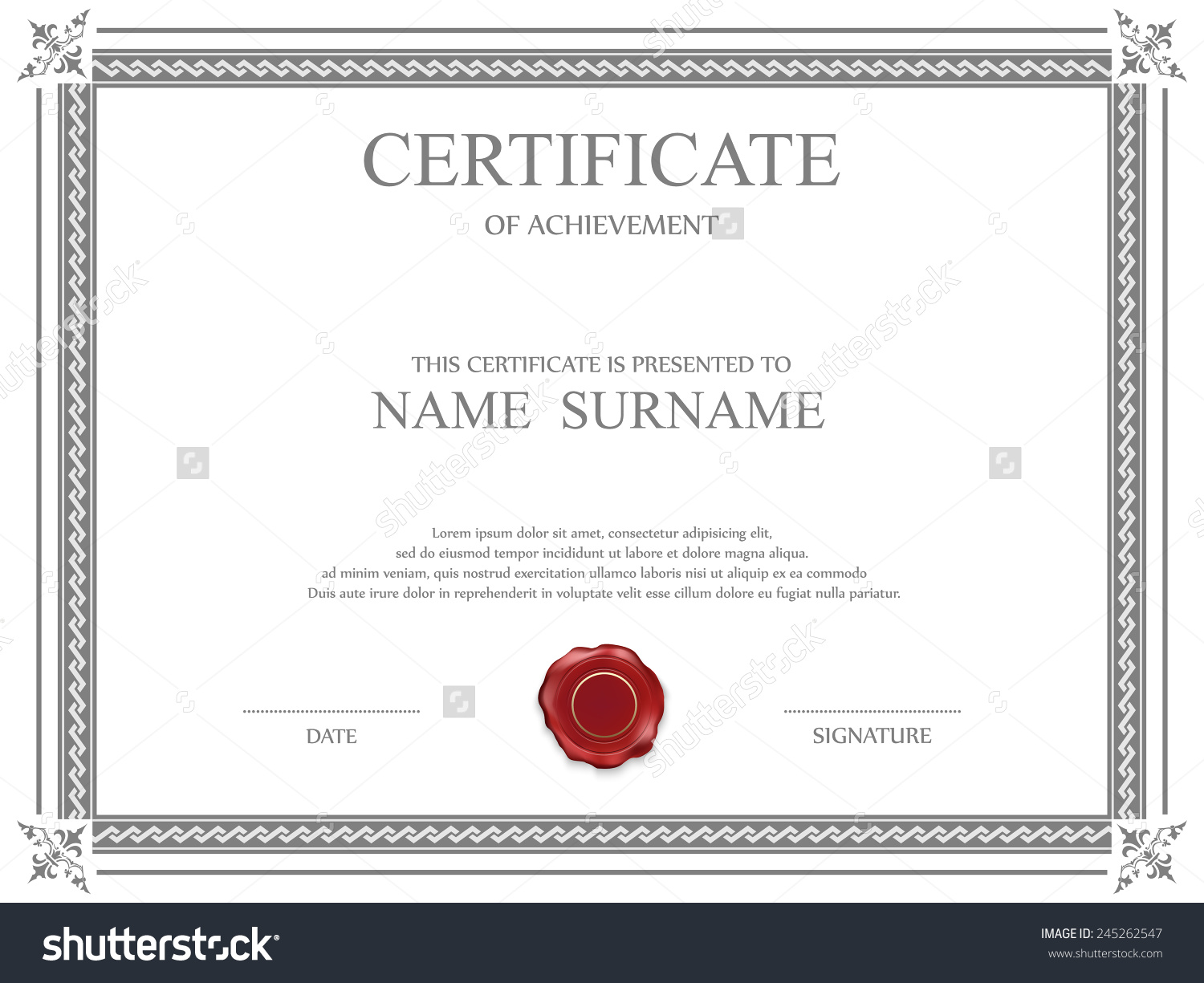 Share certificate template south africa planner template for Share certificate template
