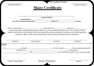 Share Certificate Template | Free Word Templates