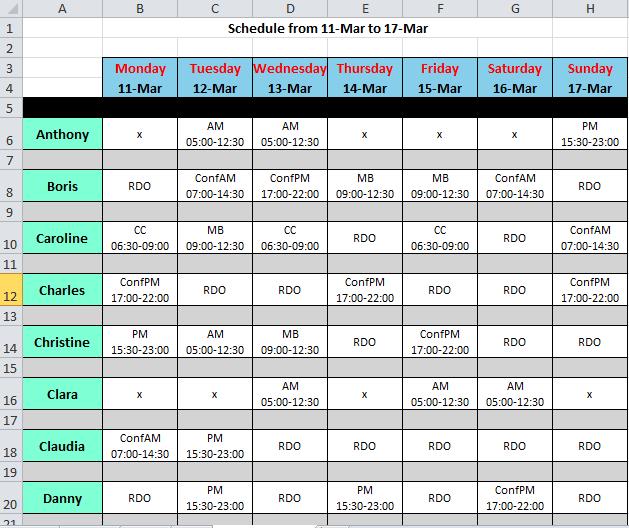 shift rota planner  u2013 planner template free