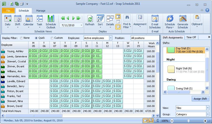 shift rota planner