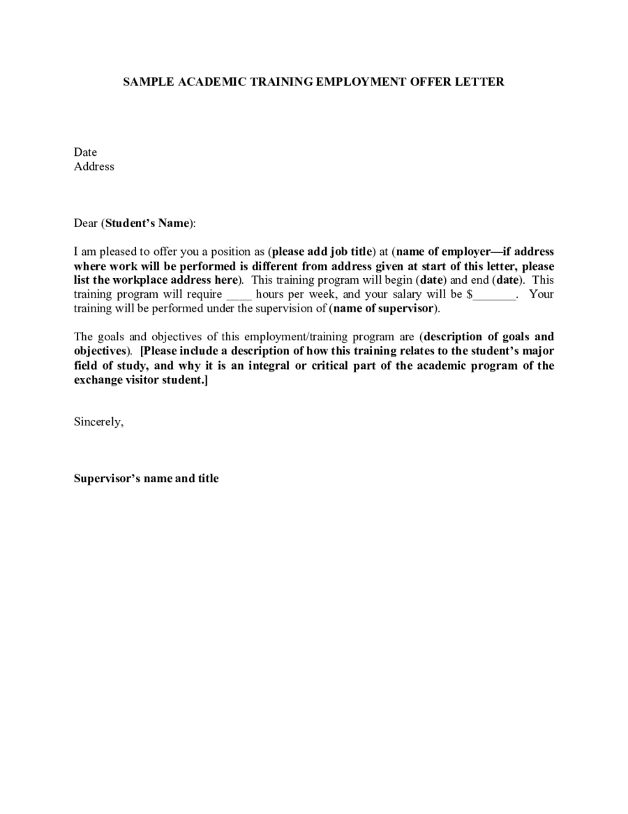 Simple Offer Letter Template 14+ Free Word, PDF Format Download