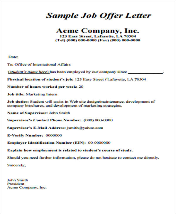 Job Appointment Letter Format In Word India | Create professional