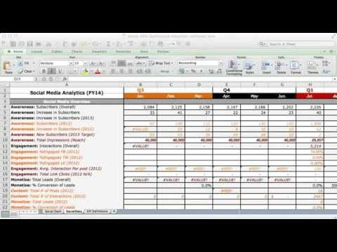 Social Media Channel Analytics Dashboard Excel Template YouTube