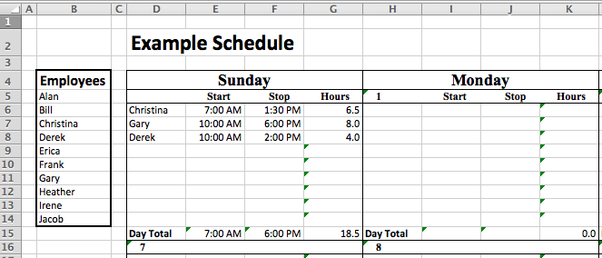 Excel Staffing Model Free Template