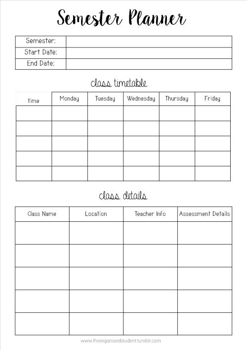 6+ student planner template | weeklyplanner.website