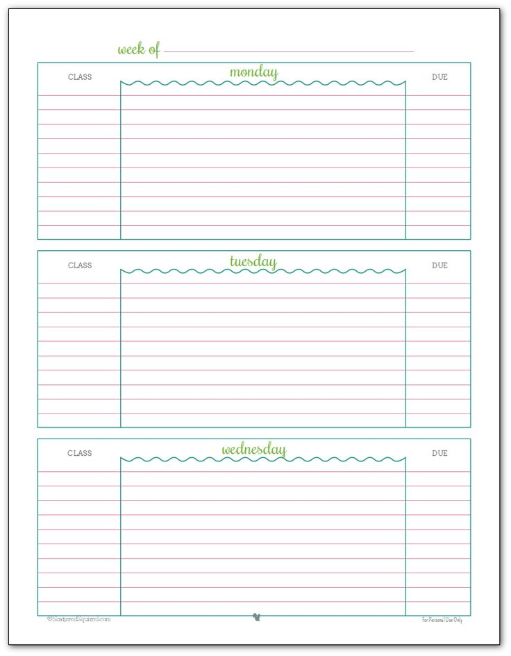 Free Student Planner Template | Free Business Template
