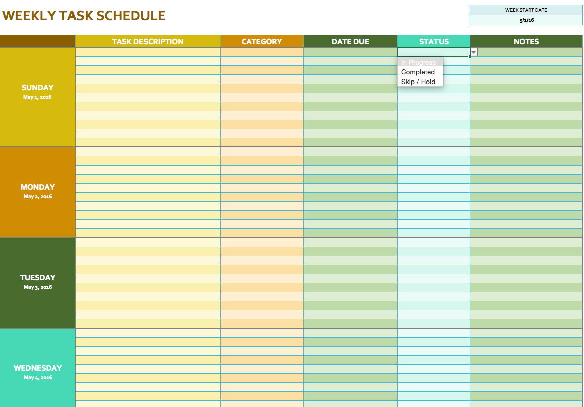 Monthly Task Planner and To do List Template | Word Document Templates