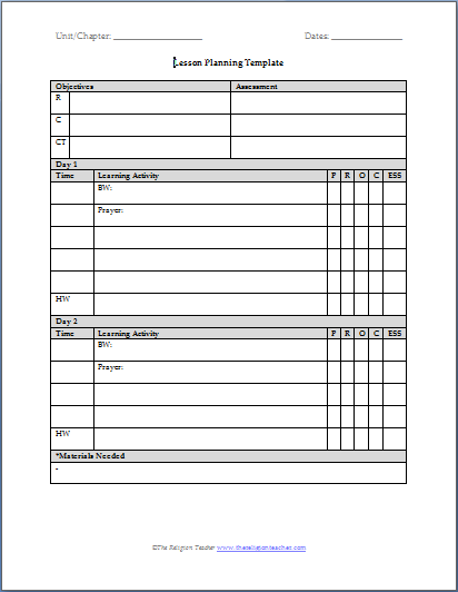 5+ teacher planner template | Outline Templates