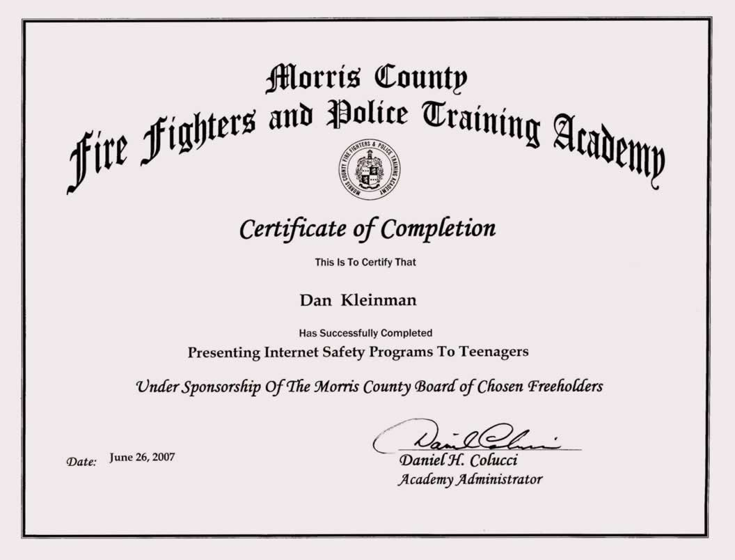 Training Certificate Format Doc
