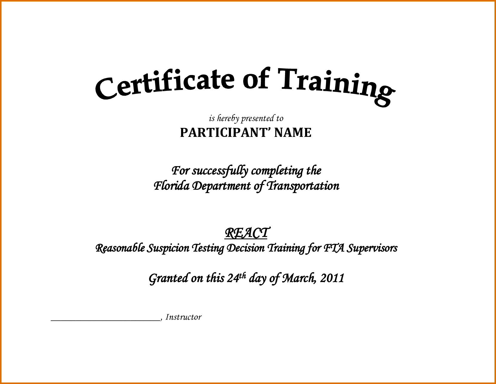 Doc16601285 blank certificate of attendance free printable gift doc611472 certificate format in word free templates for training certificate template doc army certificate of achievement template money lending agreement yadclub Choice Image