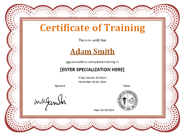 Training Completion Award Certificate Template | Word & Excel