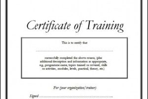 Training certificate sample doc planner template free training certificate template doc yadclub Image collections