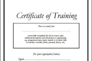Training Certificate Template Doc – planner template free