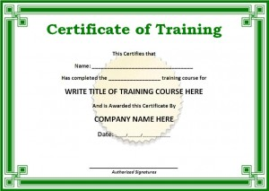 Training Certificate Template PDF | Blank Certificates