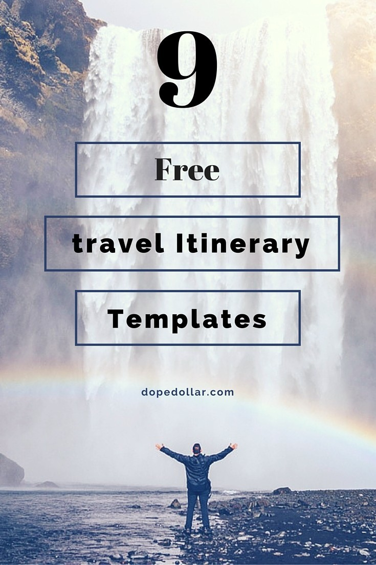 Free Travel Itinerary Templates For Travel, Flight & Vacations