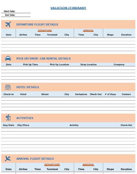 excel itinerary template - gse.bookbinder.co, Powerpoint templates
