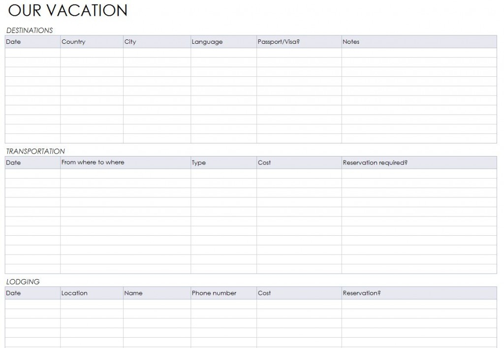 graphic regarding Free Printable Vacation Planner Template referred to as holiday vacation planner template free of charge -