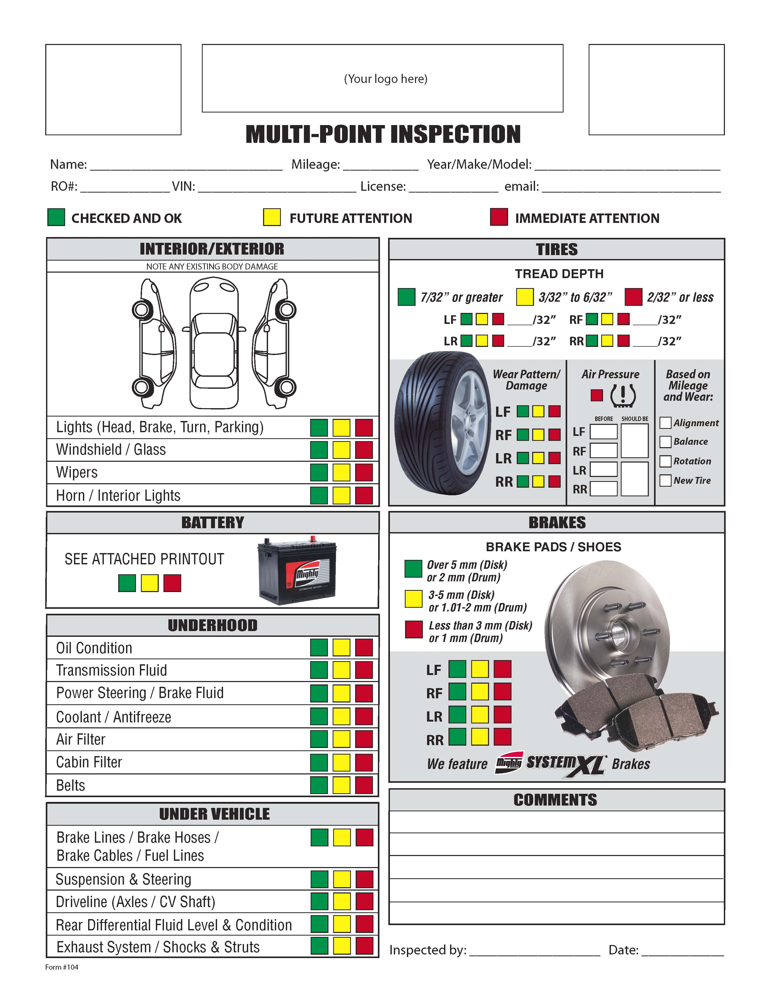 Vehicle Maintenance Checklist http://.lonewolf software.