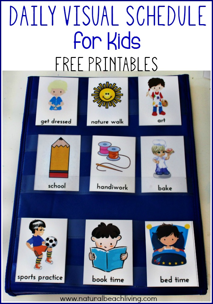 Daily Visual Schedule for Kids Free Printable | Visual schedules