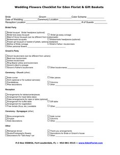 wedding planner questionnaire template Google Search | Wedding