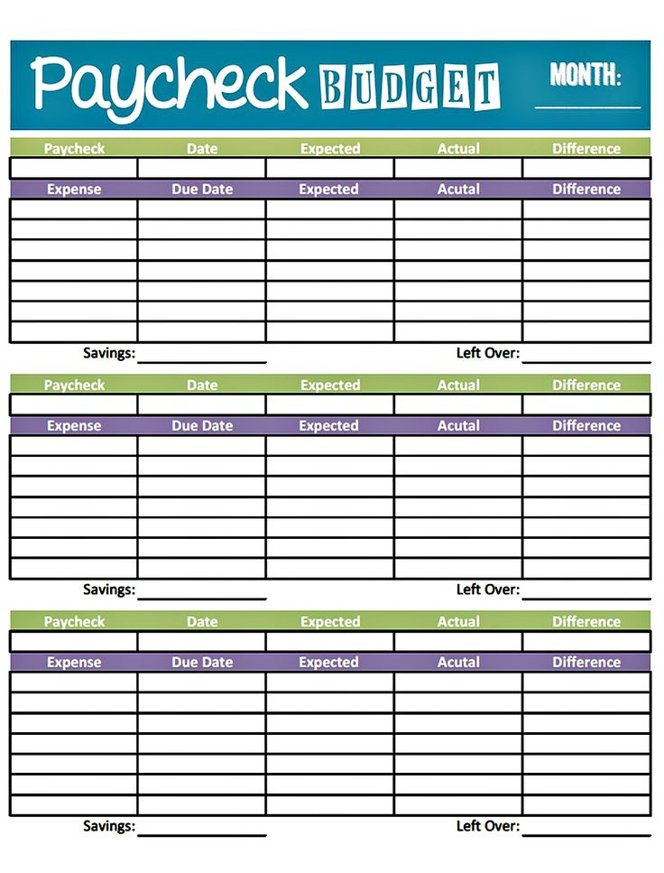 Worksheet_Budget_weekly01 | Money & Budget Printables | Pinterest