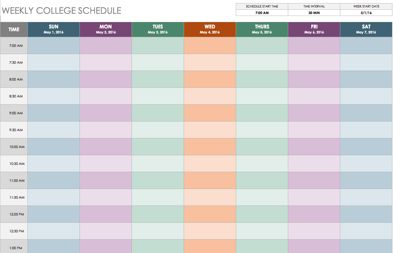 Weekly Timetable. Rainbow Themed Weekly Timetable Rainbow