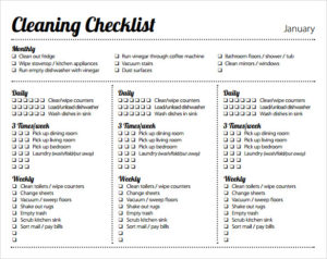 Weekly cleaning schedule templates insrenterprises weekly cleaning schedule templates pronofoot35fo Images