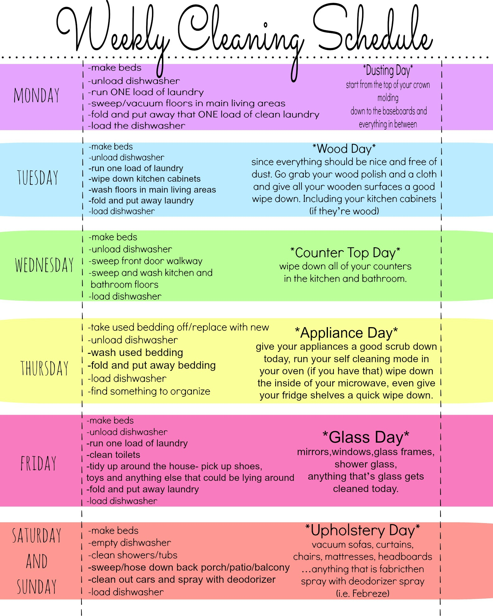 My Ultimate Happy HOME Cleaning Routine Plus FREE Printable