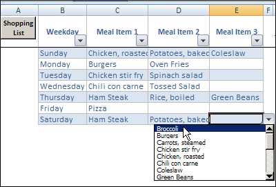 Meal Planner Template Weekly Menu Planner