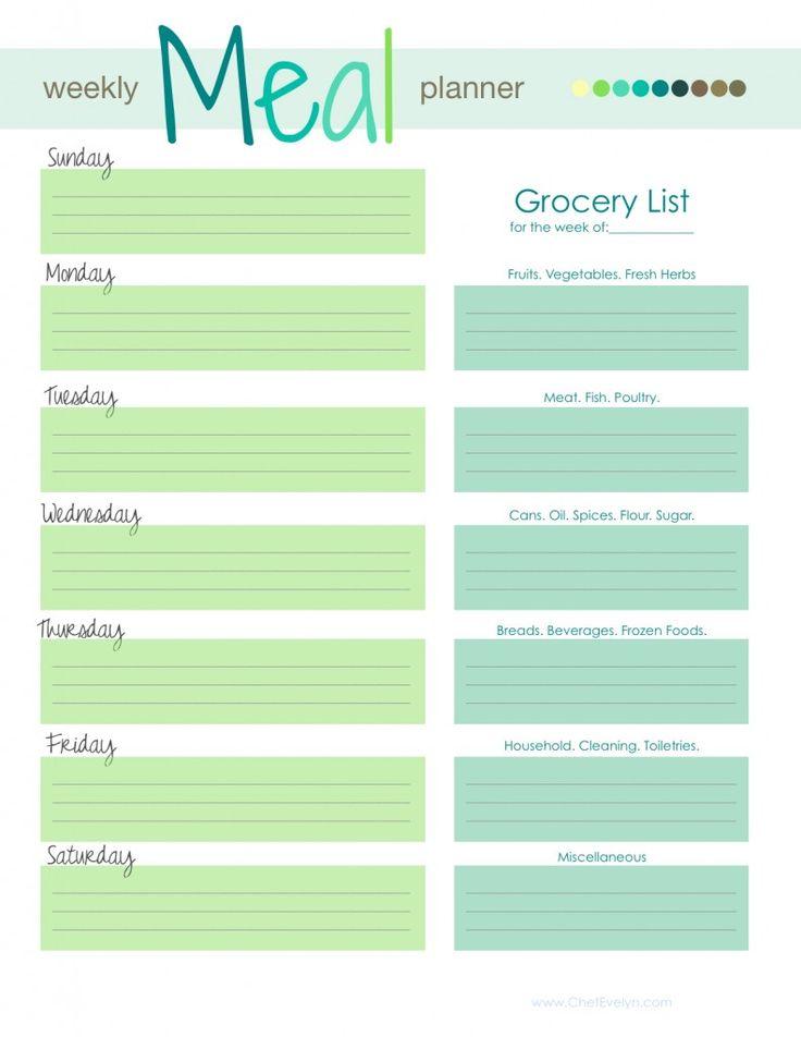 Best 25+ Meal planning templates ideas on Pinterest | Menu