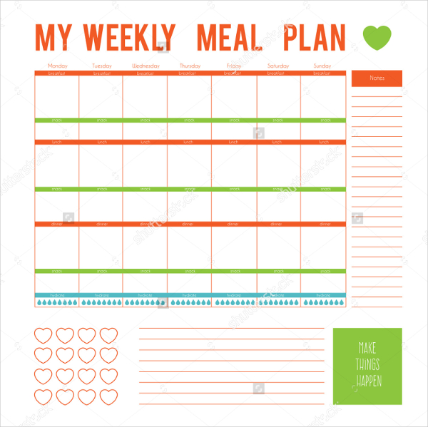 Meal Plan Template 16+ Free Word, PDF, PSD, Vector Format