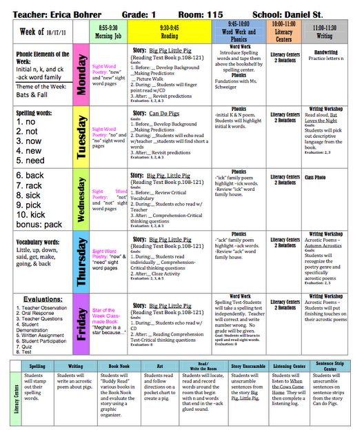 Best 25+ Weekly lesson plan template ideas on Pinterest | Teacher