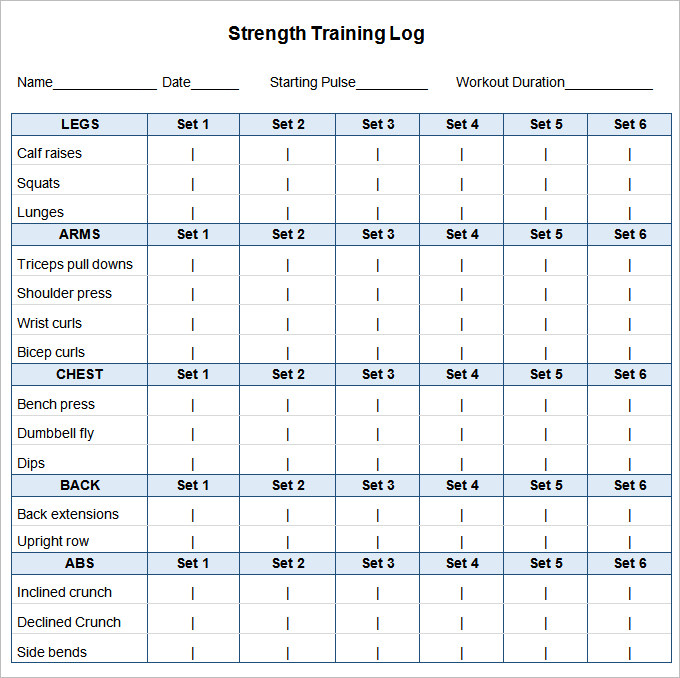 Workout plan template word planner template free for Personal training program template