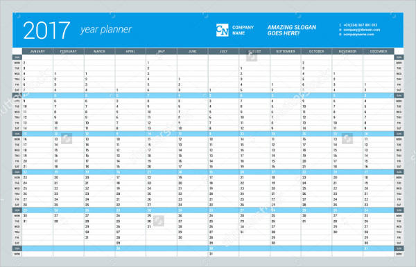Annual Calendar Template. Sample Annual Calendar Template Sample