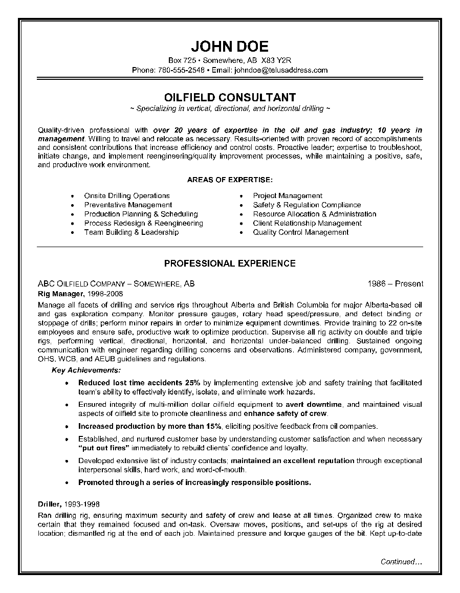 canadian cv format pdf