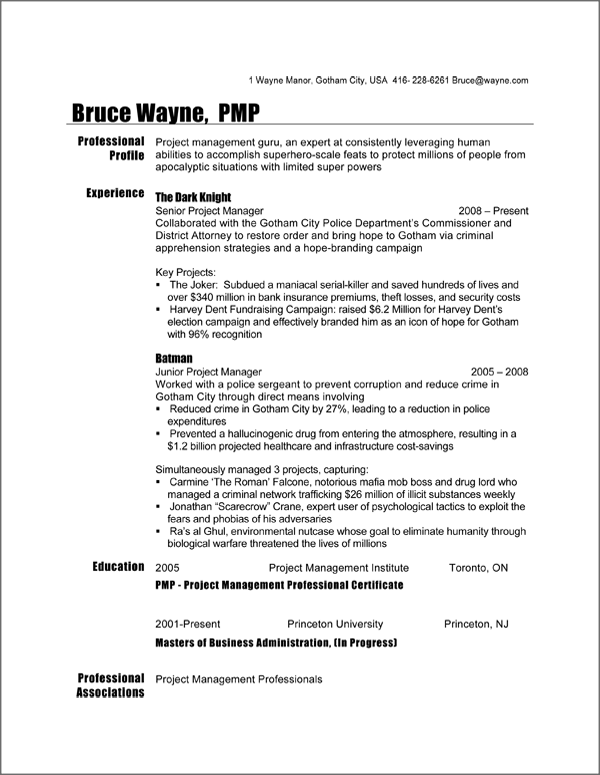 canadian resume format doc