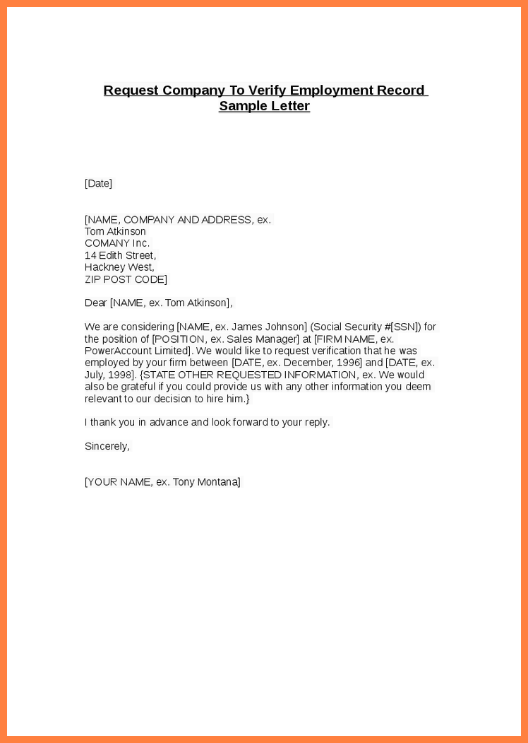 job letter from employer confirming employment confirmation of employment letter for bank planner 15155