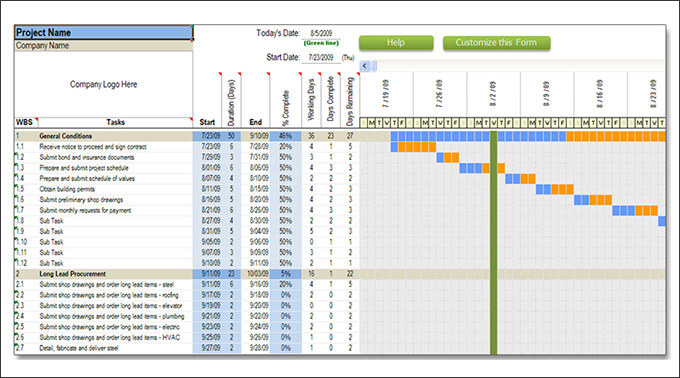 Construction Schedule Pdf - planner template free