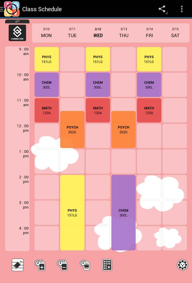 Cute Class Schedule Maker | planner template free