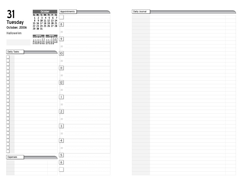 This is a picture of Trust Planner Page Templates