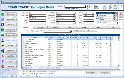 Employee Training Record Template Excel Planner Template