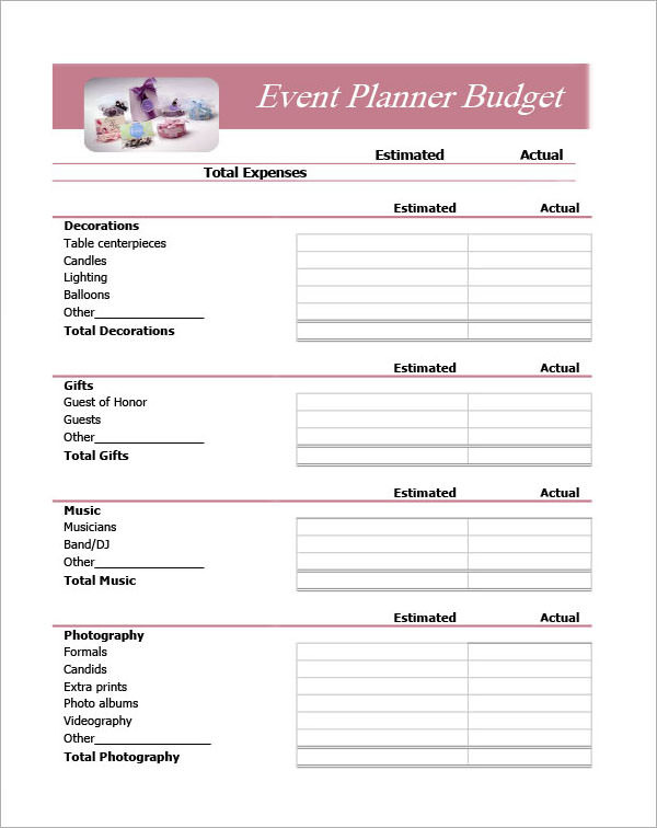 Event Planner Template Free Download