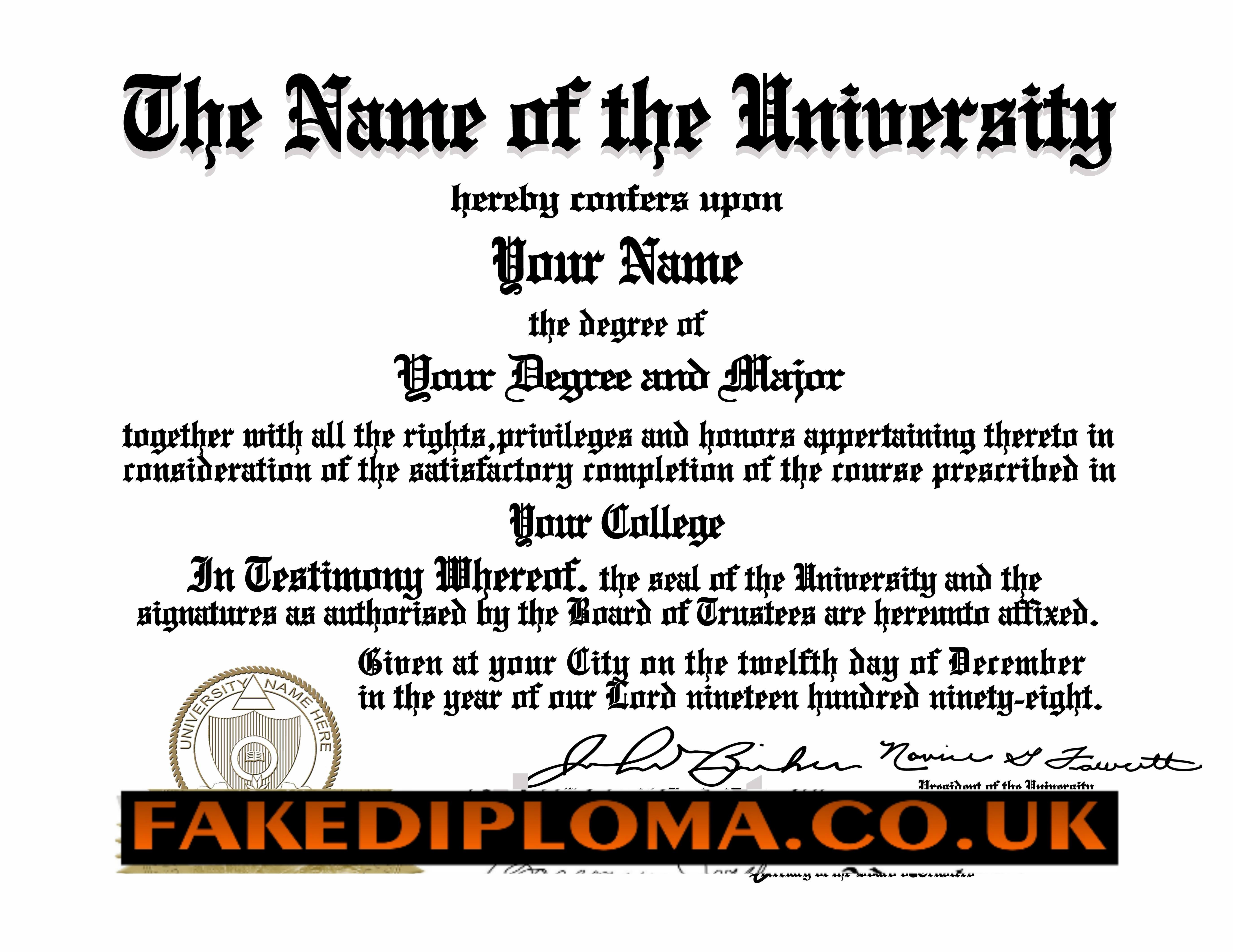 Fake diploma certificate free download planner template free for Fake degree certificate download