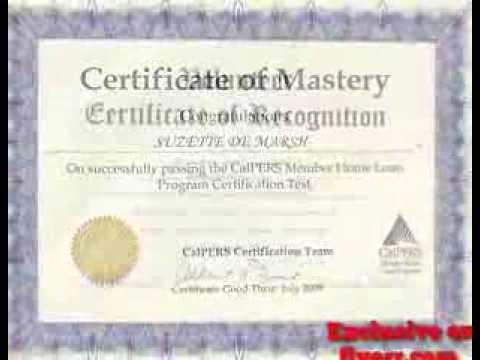 Fake Diploma Certificate Free Download