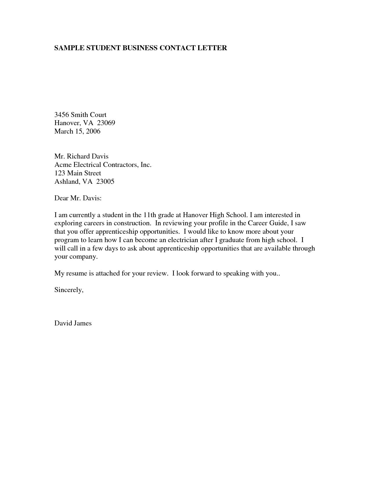 example of a business letter formal letters examples for students planner template free 46096