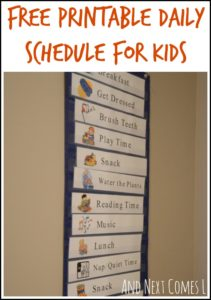 photograph regarding Free Printable Visual Schedule for Preschool identify totally free printable visible will help for preschoolers planner